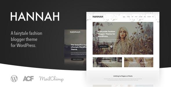 Hannah CD - Lifestyle & Fashion Blog Theme for WordPress