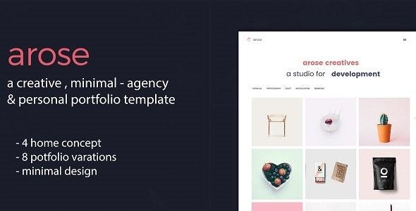 Arose - Creative Minimal Portfolio Template - Creative Site Templates