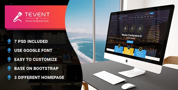 T Event - Event Conference & Meetup PSD Template - Events Entertainment