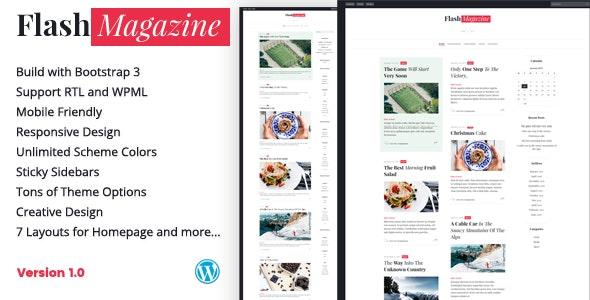 FlashMagazine - Responsive WordPress Blog Theme - Blog / Magazine WordPress