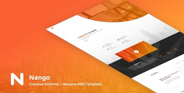 Nango - Creative Portfolio, Resume & Agency PSD Template - Creative PSD Templates