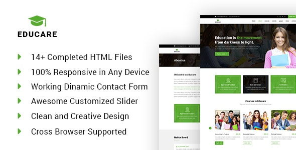 EduCare - Learning & Academy HTML Template - Business Corporate
