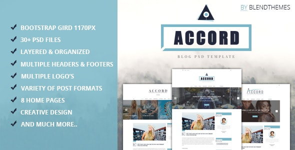 Accord - Photoshop UI Templates