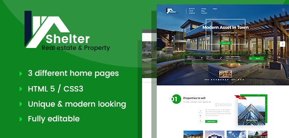 Shelter - Real Estate Template - Business Corporate