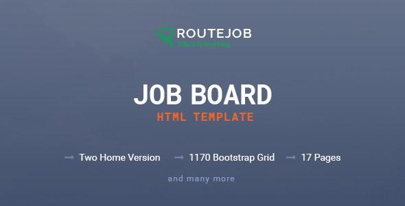 ROUTEJOB - Job Board HTML Template - Corporate Site Templates