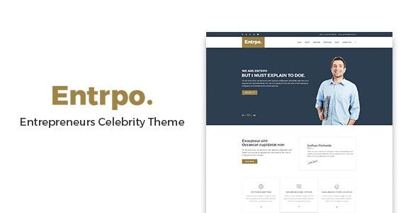 Entrpo - Entrepreneurs Celebrity WrodPress Theme - Creative WordPress