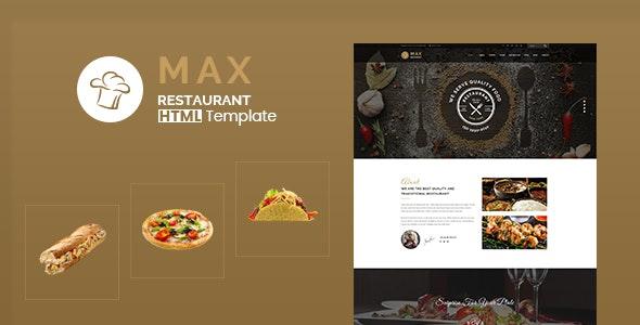 Max Restaurant - Responsive HTML Template - Food Retail