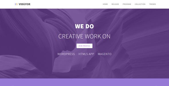 VIBGYOR - Creative Responsive HTML Landing Page