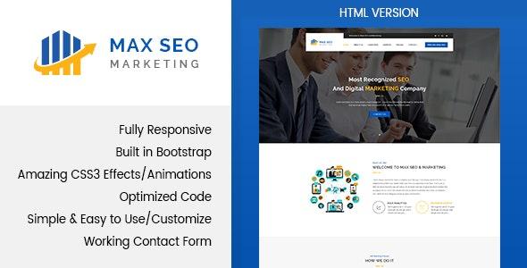 Max Seo - Marketing HTML Template - Marketing Corporate