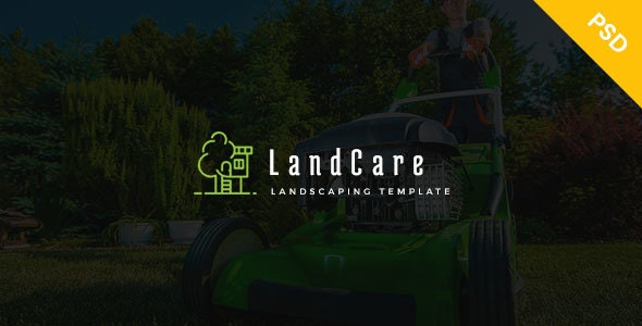LandCare - landscaping, & Gardening PSD Template - Business Corporate