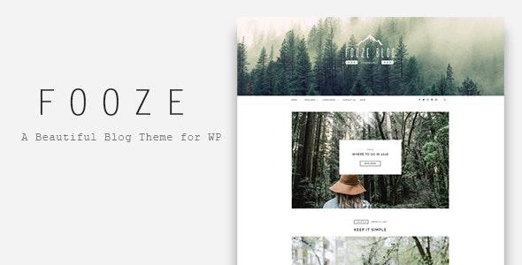Fooze - A Responsive Blog Theme - Blog / Magazine WordPress