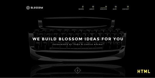 Blossom - Minimal Portfolio HTML5 Template - Portfolio Creative