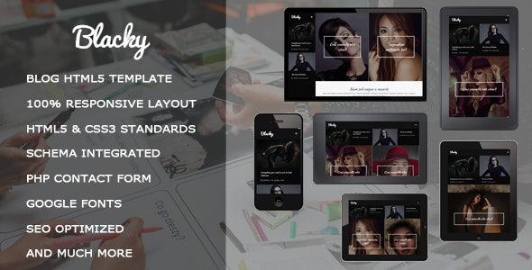 Blacky - Fashion Responsive HTML5 Template - Fashion Retail