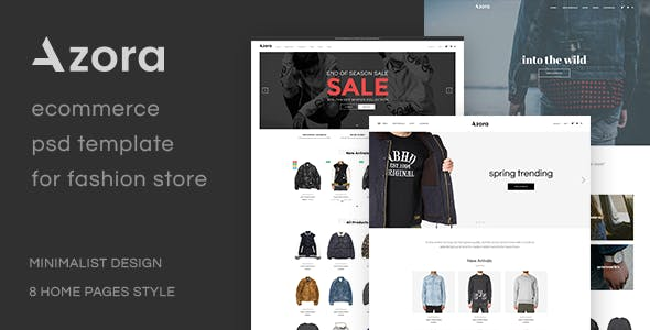 Azora - Ecommerce PSD Template For Fashion Store