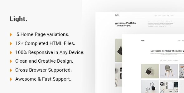 Light - Minimalist Portfolio HTML5 Template - Portfolio Creative