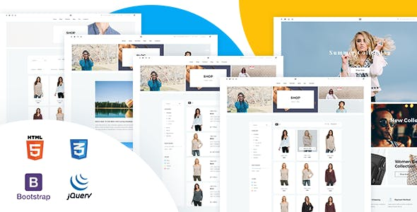 Multipurpose E Commerce HTML5 Website Template