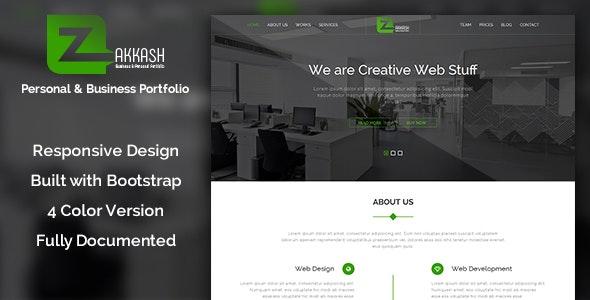 Zakkash - Corporate & Personal Minimal Portfolio Template - Site Templates