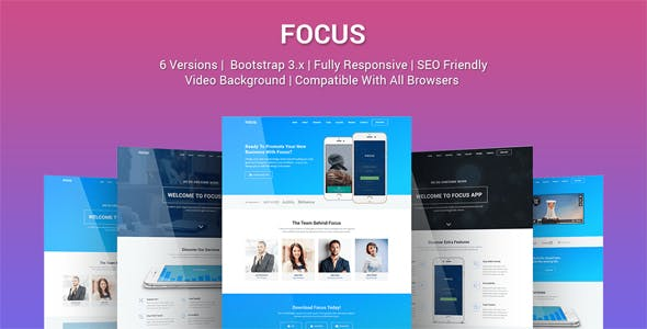 Focus - Multi Purpose App Landing Page Template by Epic-Themes