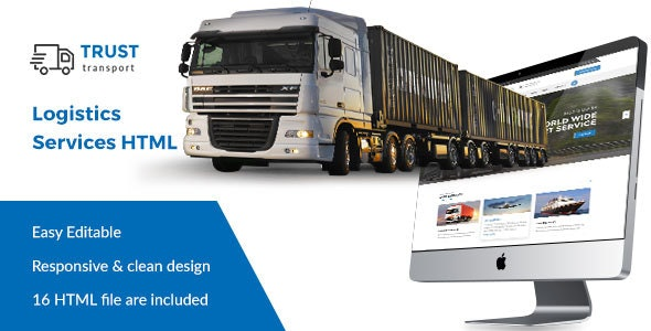 Trust Transport - Transportation and Logistics HTML Template - Business Corporate