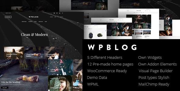 WPblog - Powerful Blog & Magazine WordPress Theme - Personal Blog / Magazine