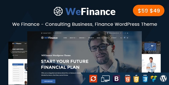 We Finance - Consulting Business WordPress Theme - Business Corporate