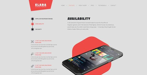 Elara - Full Screen App Showcase PSD Template