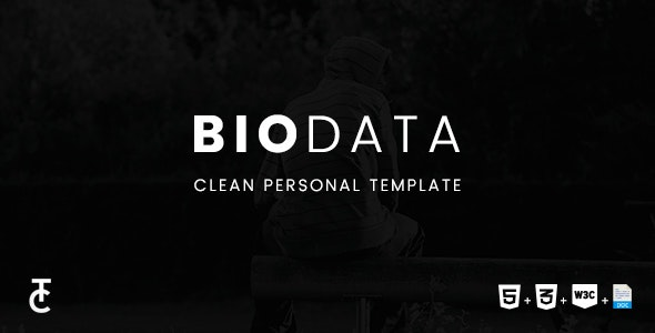 Biodata - Clean Personal HTML5 Template - Personal Site Templates