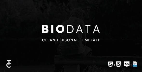 Biodata - Clean Personal HTML5 Template