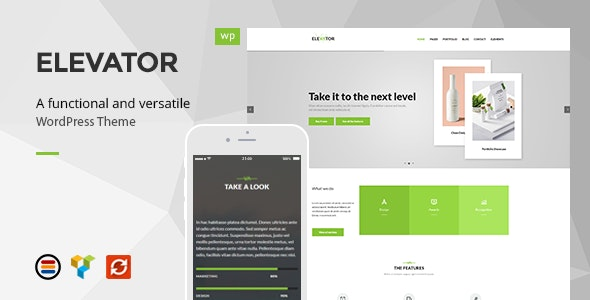 Elevator - Modern Business WordPress Theme - Business Corporate