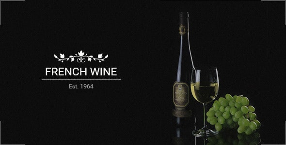 French Wine — HTML5 Store Template - Food Retail