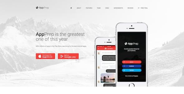 AppPrep - Creative App Landing Page PSD Template