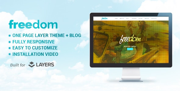 Freedom - Multipurpose Layers One Page WordPress Theme - WordPress