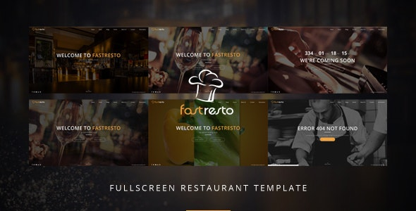 Fastresto Fullscreen Restaurant Template by on3-step | ThemeForest