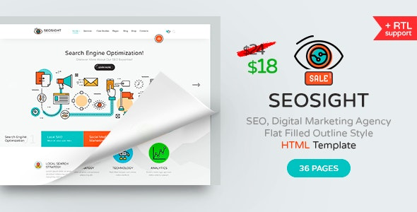 Seosight - SEO, Digital Marketing Agency HTML Template - Marketing Corporate