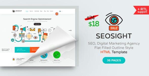Seosight - SEO, Digital Marketing Agency HTML Template