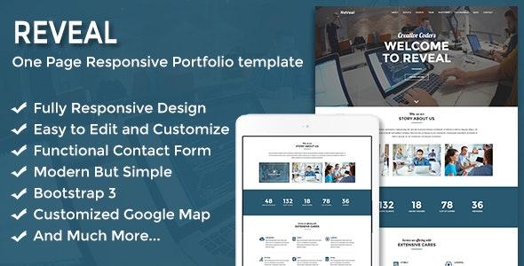 Reveal - Responsive One Page Portfolio Template - Portfolio Creative
