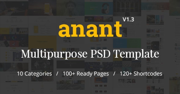 Anant | Multipurpose PSD Template - Photoshop UI Templates