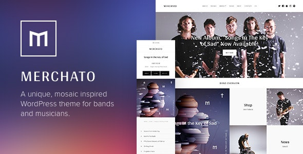 Merchato - Music and Band eCommerce WordPress Theme - Music and Bands Entertainment