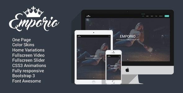 Emporio - Multipurpose One Page Template - Creative Site Templates