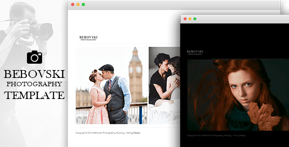 Bebovski Photography - Modern HTML Site Template for Photography - Photography Creative