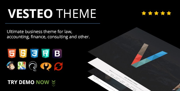 Vesteo Business Multi-Purpose Responsive Theme - Business Corporate