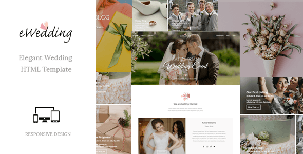 eWedding - Responsive Wedding Template - Wedding Site Templates