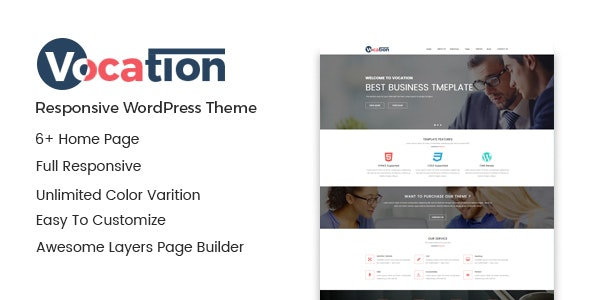 Vocation – Corporate WordPress Theme - Business Corporate