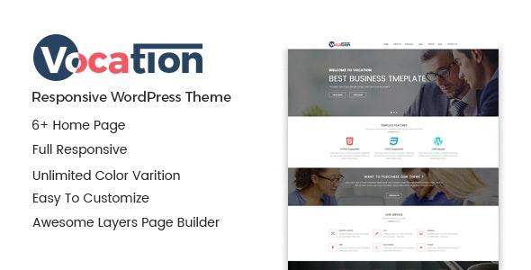 Vocation – Corporate WordPress Theme - Business Corporate