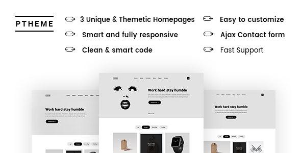 Ptheme Creative - HTML5 Portfolio Template - Creative Site Templates
