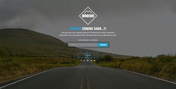 MODERN Coming Soon HTML Template V3