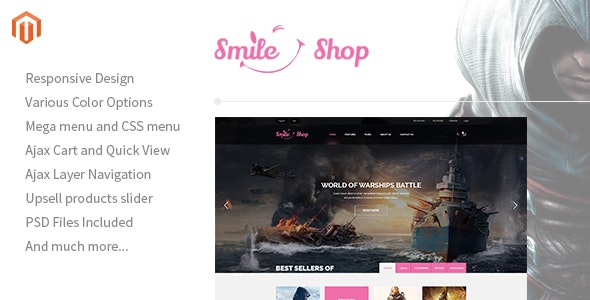 Smileshop - Multipurpose Responsive Magento Theme - Shopping Magento