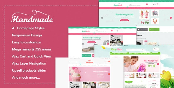 Handmade - Multipurpose Responsive Magento Theme - Shopping Magento