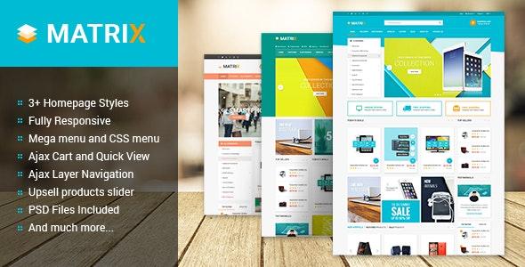 Matrix - Multipurpose Responsive Magento Theme - Shopping Magento