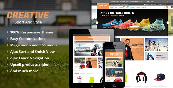 Creative - Responsive Multipurpose Magento Theme - Shopping Magento